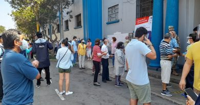 Long queues to vote in Lima (Photo: Twitter)