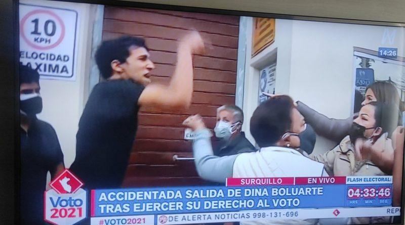 Fujimori supporters intimidating Dina Boluarte