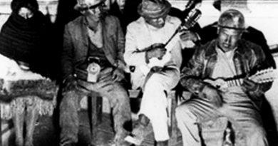 Llallagua miners celebrating San Juan, shortly before being massacred