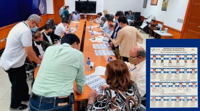 Nicaragua's Official Ballot Sample Released